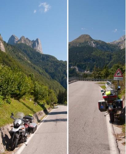 Alpene, blå himmel, og 12 hårnålsvinger