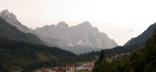 Solnedgang i Dolomittene