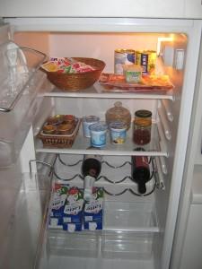 Kjøleskapet ønsker meg velkommen