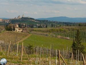 San Gimignano, fra nord