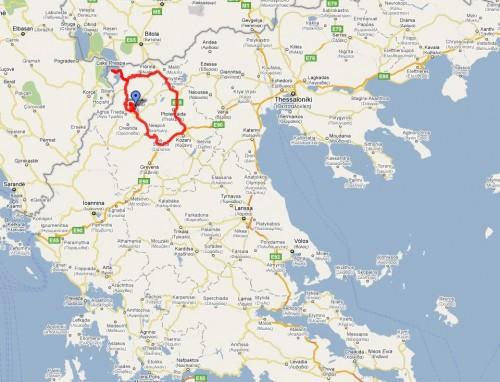 Rundtur i nord (klikk på kartet for detaljer)