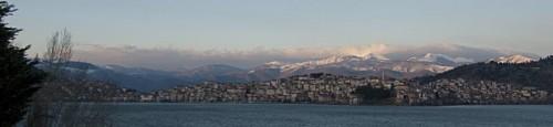 Kastoria ved solnedgang