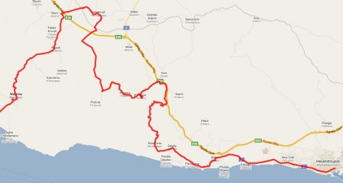 Kartet i henhold til Google Maps