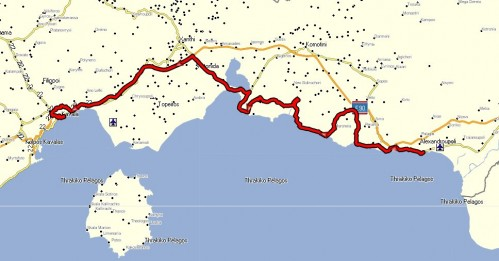 204 km i øst, mot vest