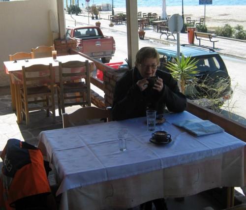 Bordet med sol, det tok kelneren