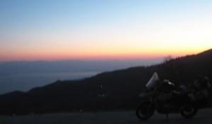 Uskarp solnedgang