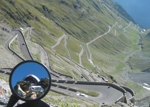 Østsiden av Passo dello Stelvio
