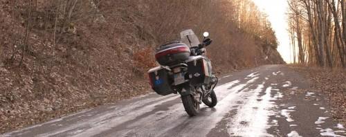 BMW R1150GS og isete vei