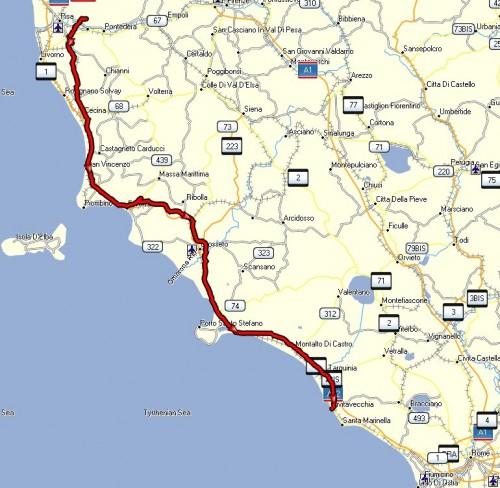 Turen til Civitavecchia