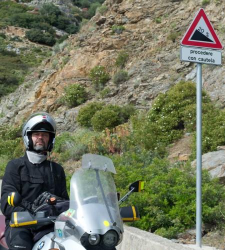 Det er bratt på Sardinia